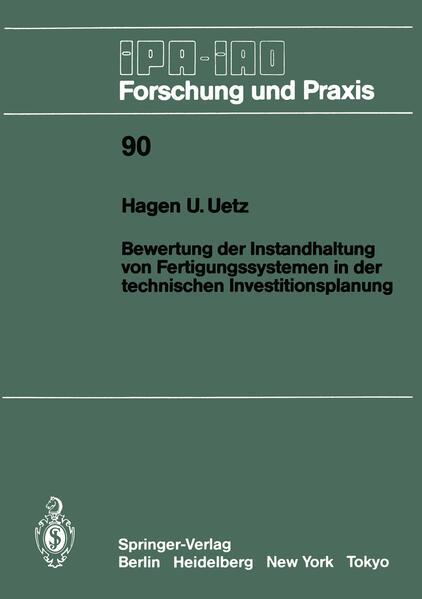 Bewertung der Instandhaltung von Fertigungssystemen in der technischen Investitionsplanung - Coverbild