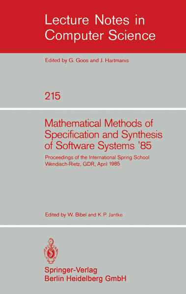 Mathematical Methods of Specification and Synthesis of Software Systems '85 - Coverbild