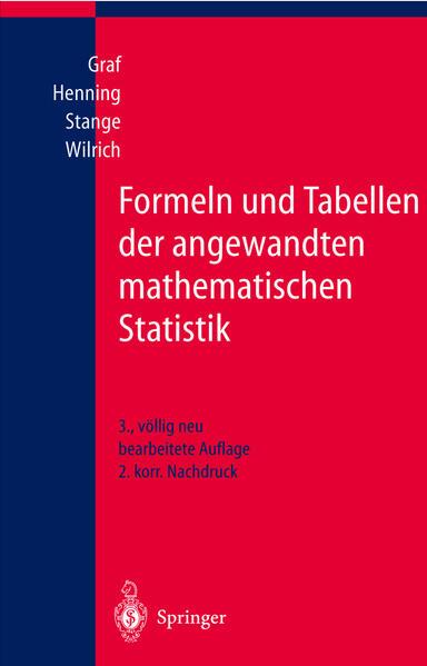 Formeln und Tabellen der angewandten mathematischen Statistik - Coverbild
