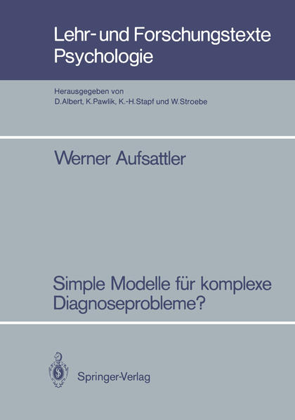 Simple Modelle für komplexe Diagnoseprobleme? - Coverbild