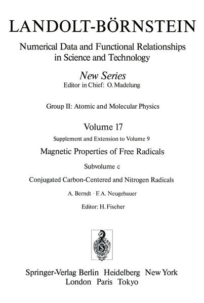 Conjugated Carbon-Centered and Nitrogen Radicals / Konjugierte Kohlenstoff- und Stickstoff-Radikale - Coverbild