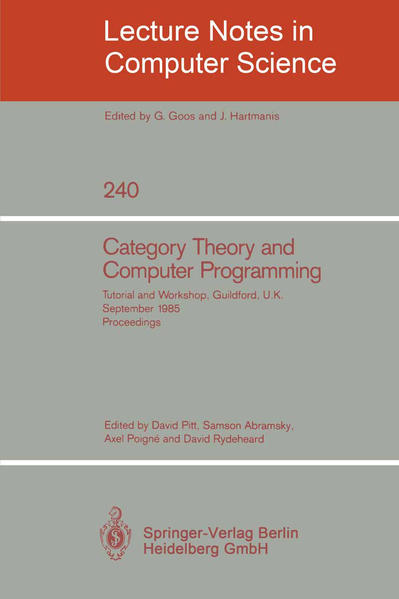 Category Theory and Computer Programming - Coverbild
