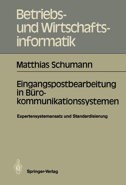 Eingangspostbearbeitung in Bürokommunikationssystemen - Coverbild