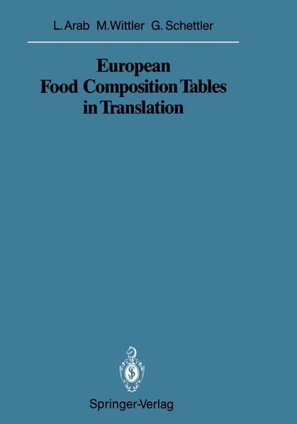 European Food Composition Tables in Translation - Coverbild