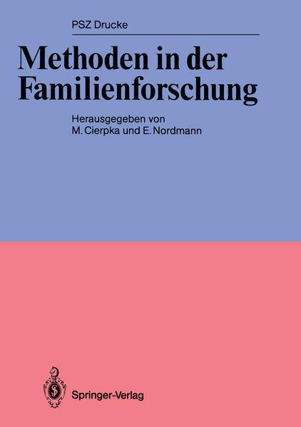Methoden in der Familienforschung - Coverbild