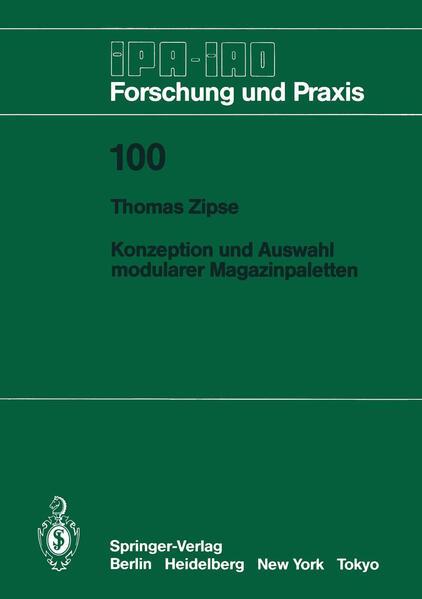 Konzeption und Auswahl modularer Magazinpaletten - Coverbild