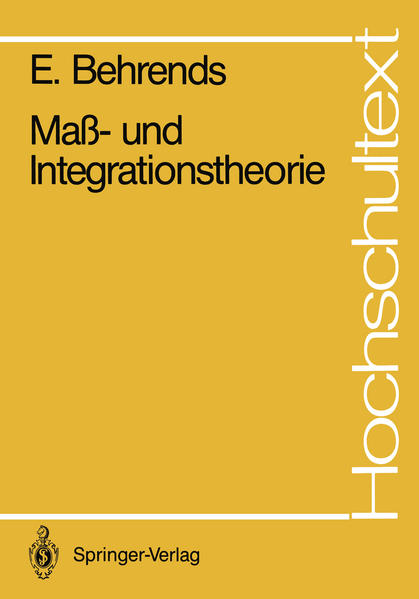 Maß- und Integrationstheorie - Coverbild