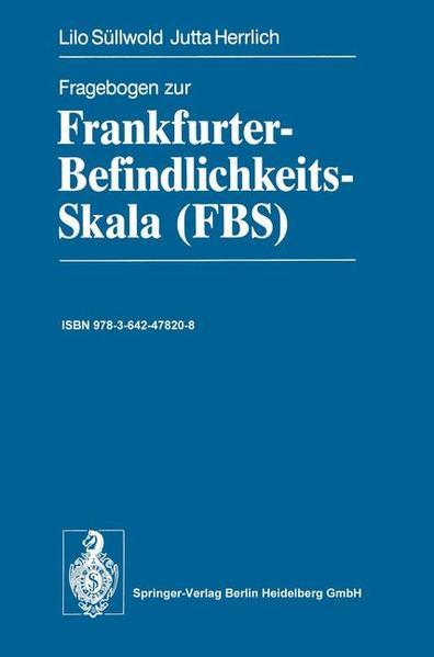 Fragebogen zur Frankfurter-Befindlichkeits-Skala (FBS) - Coverbild