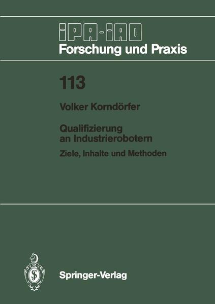 Qualifizierung an Industrierobotern - Coverbild