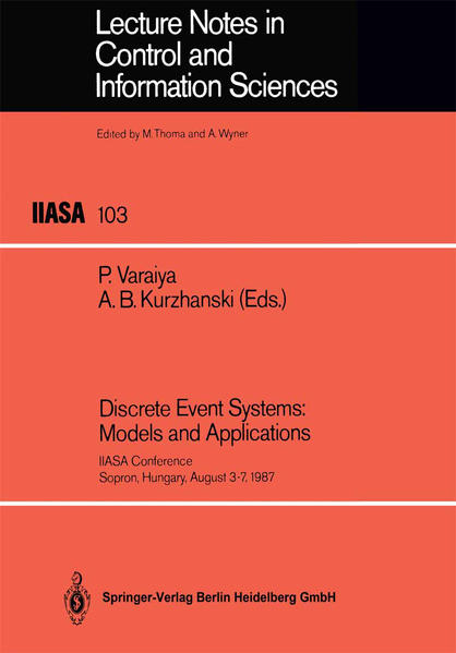 Discrete Event Systems: Models and Applications - Coverbild