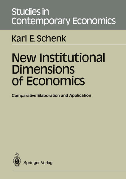 New Institutional Dimensions of Economics - Coverbild