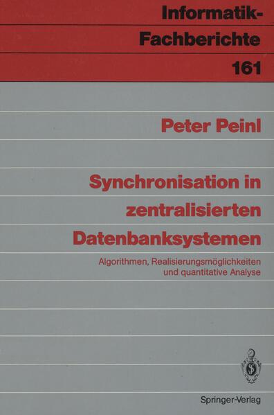Synchronisation in zentralisierten Datenbanksystemen - Coverbild