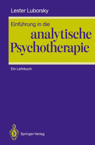 Einführung in die analytische Psychotherapie - Coverbild