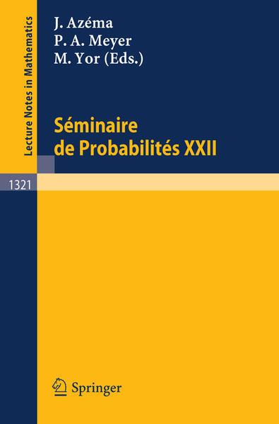 Seminaire de Probabilites XXII - Coverbild