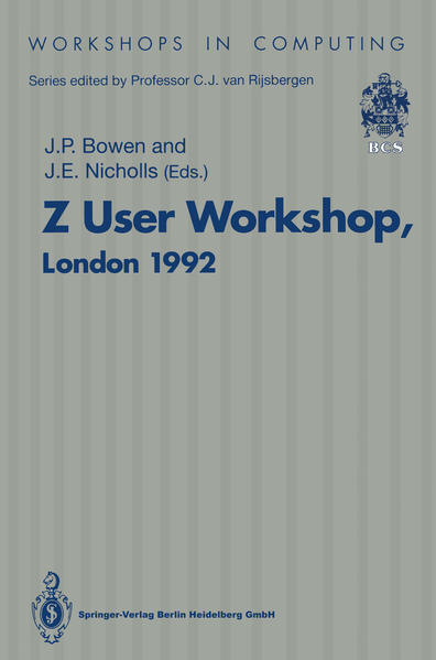 Z User Workshop, London 1992 - Coverbild