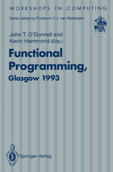 Functional Programming, Glasgow 1993 - Coverbild