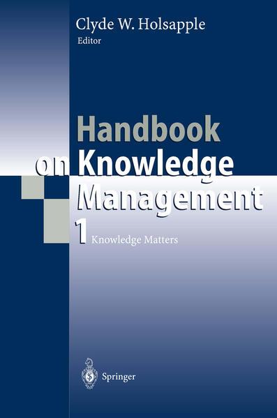 Handbook on Knowledge Management 1 - Coverbild