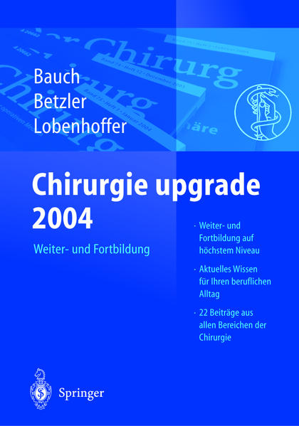 Chirurgie upgrade 2004 - Coverbild