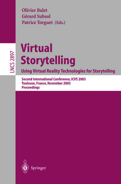 Virtual Storytelling; Using Virtual Reality Technologies for Storytelling - Coverbild
