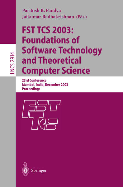 FST TCS 2003: Foundations of Software Technology and Theoretical Computer Science - Coverbild