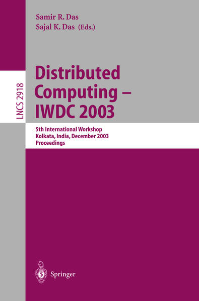 Distributed Computing - IWDC 2003 - Coverbild