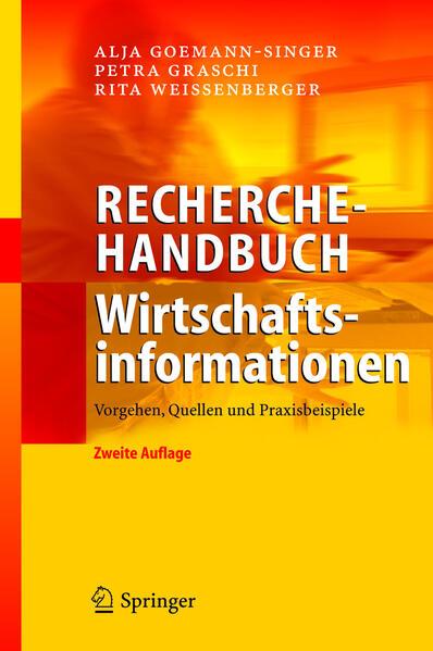 Recherchehandbuch Wirtschaftsinformationen - Coverbild