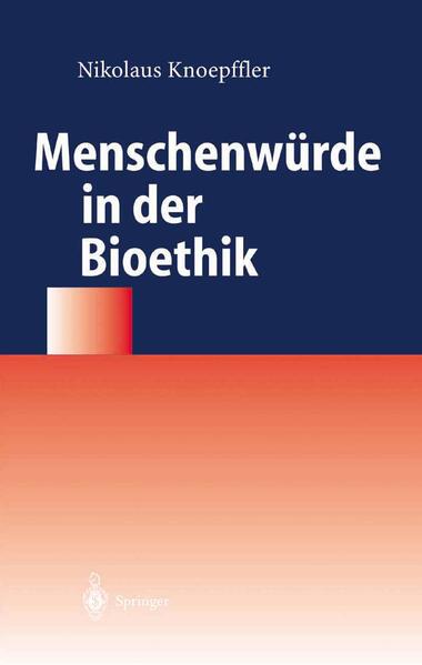 Menschenwürde in der Bioethik - Coverbild
