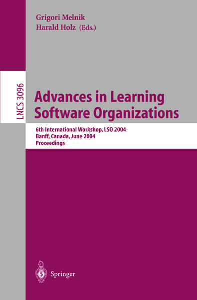 Advances in Learning Software Organizations - Coverbild