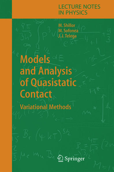 Models and Analysis of Quasistatic Contact - Coverbild