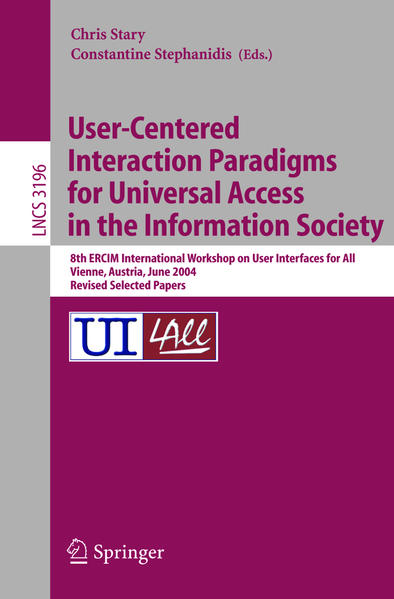 User-Centered Interaction Paradigms for Universal Access in the Information Society - Coverbild