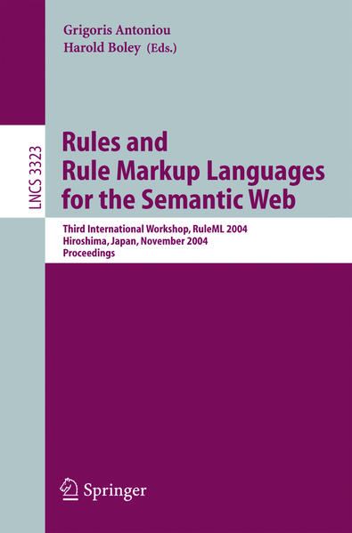 Rules and Rule Markup Languages for the Semantic Web - Coverbild