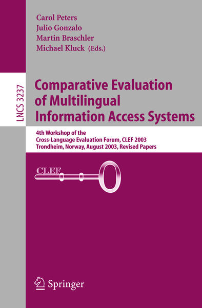 Comparative Evaluation of Multilingual Information Access Systems - Coverbild