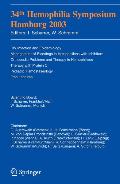 34th Hemophilia Symposium Hamburg 2003 PDF Jetzt Herunterladen