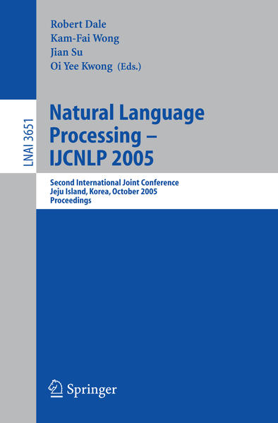 Natural Language Processing – IJCNLP 2005 - Coverbild