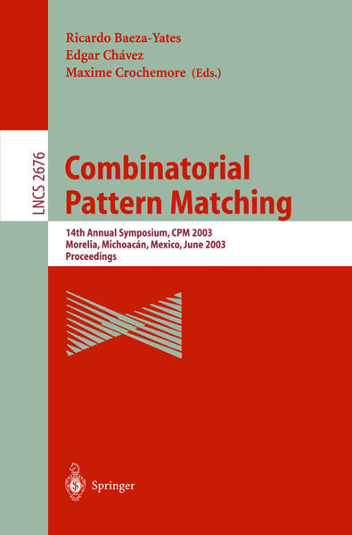 Combinatorial Pattern Matching - Coverbild