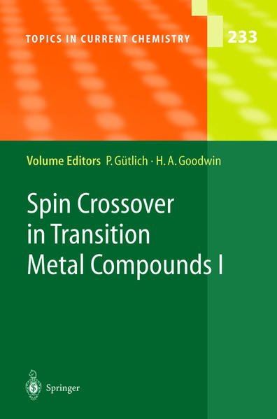 Spin Crossover in Transition Metal Compounds I - Coverbild