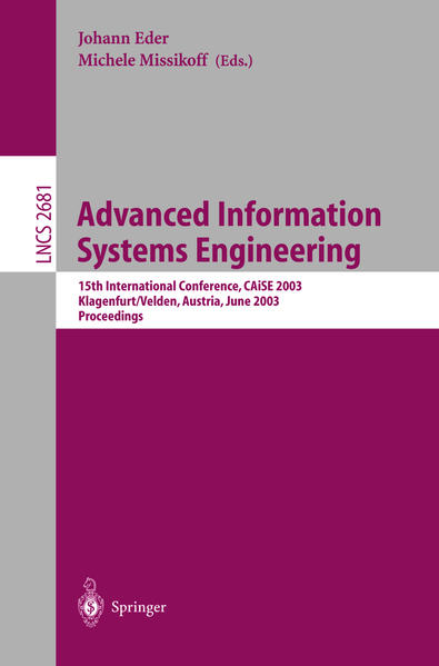 Advanced Information Systems Engineering - Coverbild
