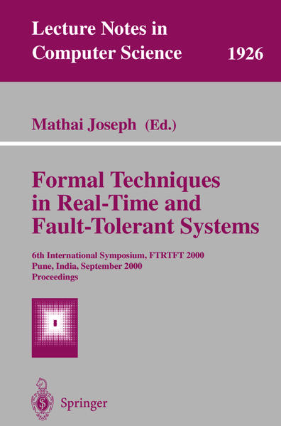 Formal Techniques in Real-Time and Fault-Tolerant Systems - Coverbild
