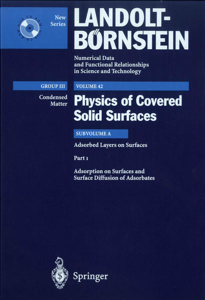 Adsorption on Surfaces and Surface Diffusion of Adsorbates - Coverbild