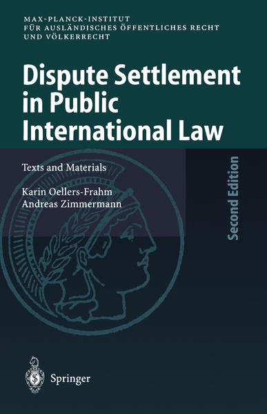 Dispute Settlement in Public International Law - Coverbild