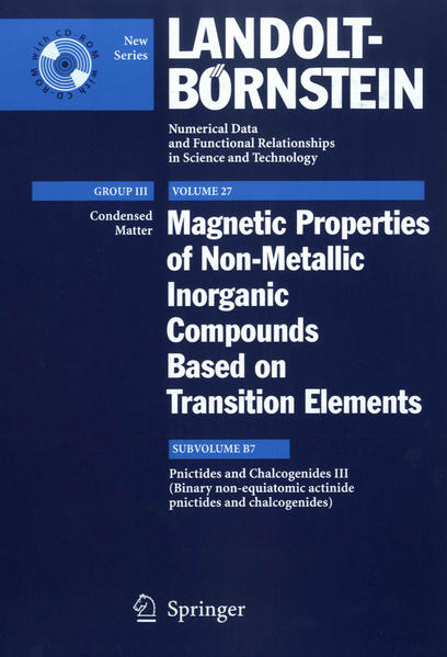 Pnictides and Chalcogenides III (Binary non-equiatomic actinide pnictides and chalcogenides) - Coverbild