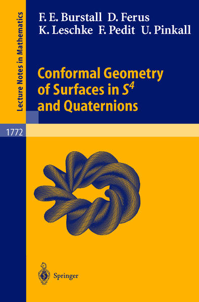 Conformal Geometry of Surfaces in S4 and Quaternions - Coverbild