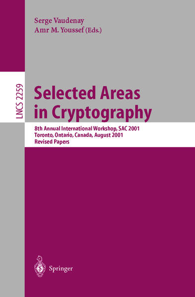 Selected Areas in Cryptography - Coverbild