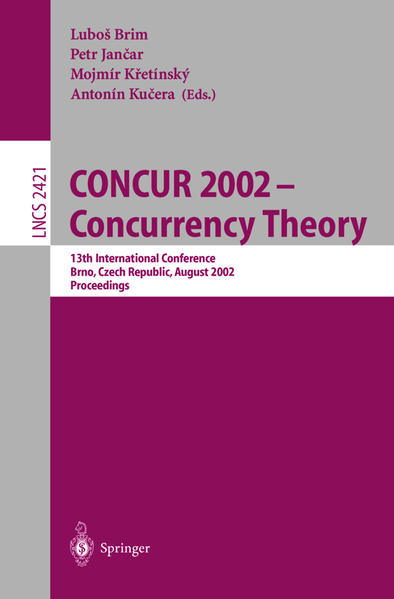 CONCUR 2002 - Concurrency Theory - Coverbild