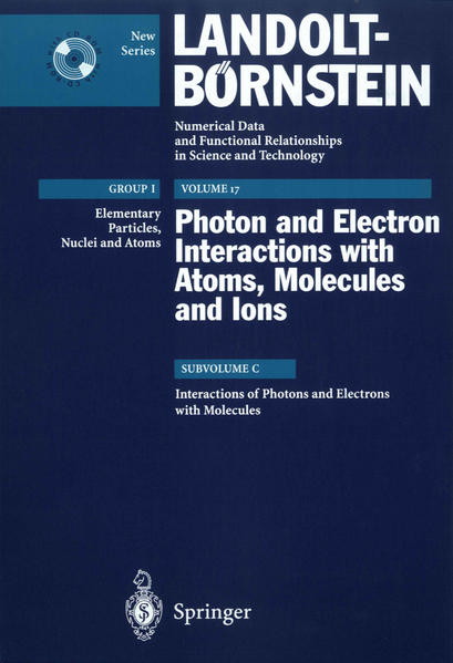 Interactions of Photons and Electrons with Molecules - Coverbild
