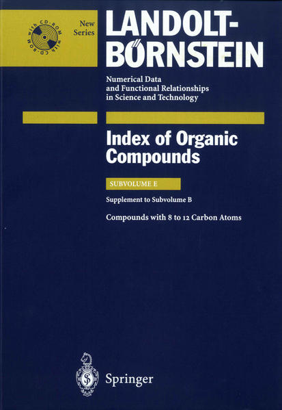 Compounds with 8 to 12 Carbon Atoms (Supplement to Subvolume B) - Coverbild