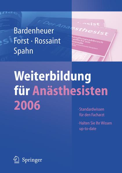 Weiterbildung für Anästhesisten 2006 - Coverbild