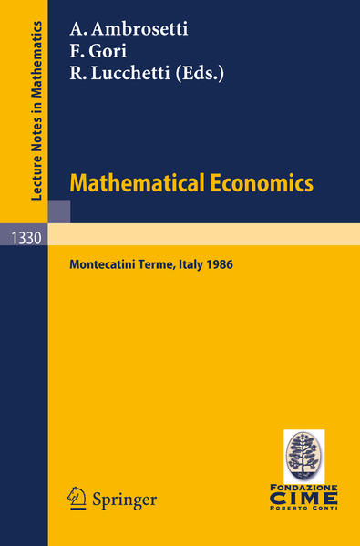 Mathematical Economics - Coverbild