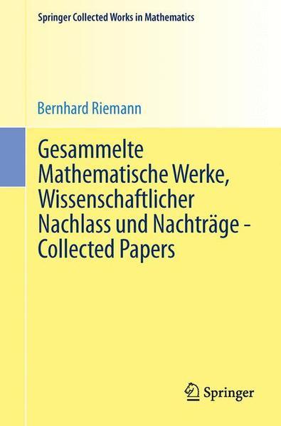 Gesammelte Mathematische Werke, Wissenschaftlicher Nachlass und Nachträge - Collected Papers - Coverbild