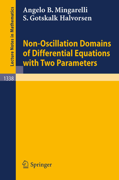 Non-Oscillation Domains of Differential Equations with Two Parameters - Coverbild